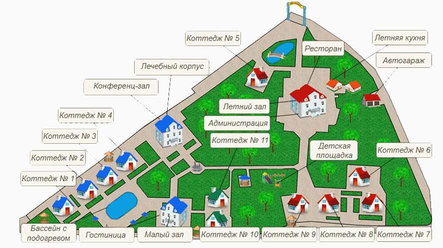 План санатория